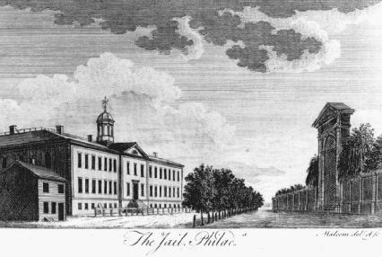The Walnut Street Jail, built in Philadelphia, Pennsylvania, in 1790, was the first penitentiary constructed in the United States. It became the model for other prisons.