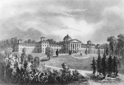 Prison reformer Dorothea Dix devoted her life to the proper care and treatment of the insane and mentally ill. Her efforts resulted in the creation of the New Jersey State Lunatic Asylum in Trenton (above) as well as similar institutions around