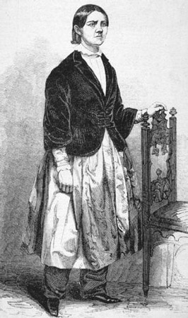 Lucy Stone, shown wearing pantalettes, also called Bloomers, believed that men and African American women should be allowed to participate in womens suffrage organizations. As a result, she formed the American Woman Suffrage Association (AWSA),