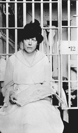 Activist Lucy burns was sent to jail after picketing at the White House for womens suffrage. Although Burns. And other protesters were guilty of no real crime, they were sent to prison nonetheless.