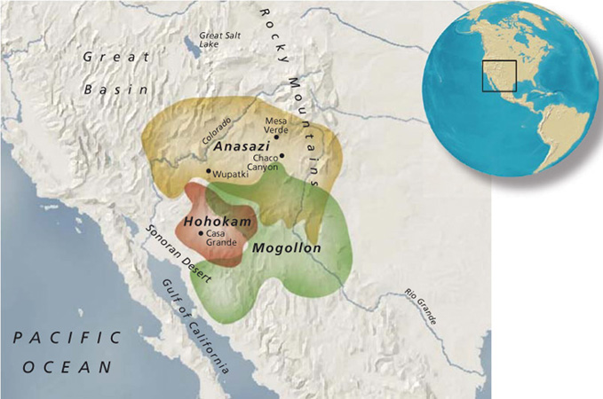 THE PUEBLO FARMERS TERRITORY covered much of present-day Utah, Colorado, Arizona, and New Mexico.