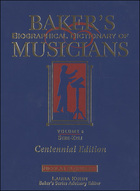 Baker's Biographical Dictionary of Musicians, ed. , v.