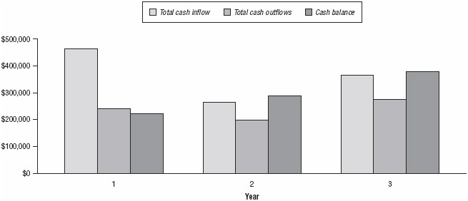 Proforma cash flow (yearly)
