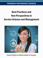 Best Practices and New Perspectives in Service Science and Management, ed. , v.
