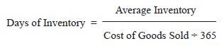 ActivityEfficiency Ratios