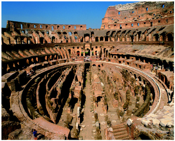 Acid rain takes a toll on many historic buildings and statues. The Colosseum in Rome, Italy, for example, is being damaged by acid rain. Passport StockRoyalty Free.