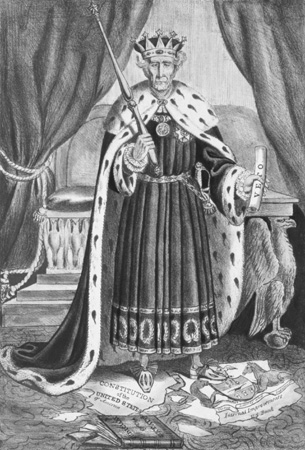 Political Cartoon of Andrew Jackson