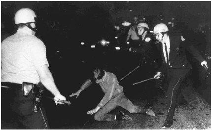 Well-known battles between police and antiwar protestors became common in the 1960s. A notable example was the Chicago riots in the summer of 1968 during the Democratic National Convention. (AP/Wide World Photos)