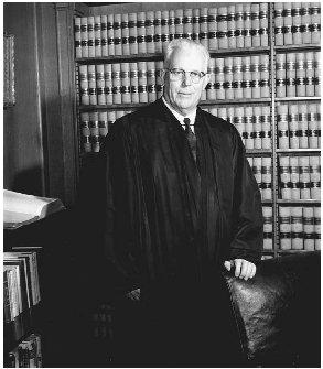 U.S. Supreme Court justice Earl Warren made several landmark decisions between 1961 and 1966 affirming the rights of suspects. (AP/Wide World Photos)