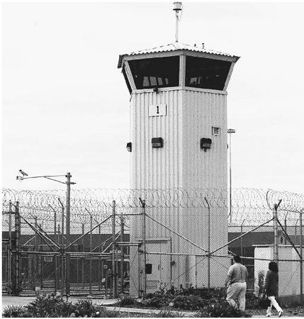 Entrance to the Valley State Prison for Women in Chowchilla, California. The prison was the site of a 2000 state hearing over inadequate medical treatment for women inmates in California prisons. (AP/Wide World Photos)