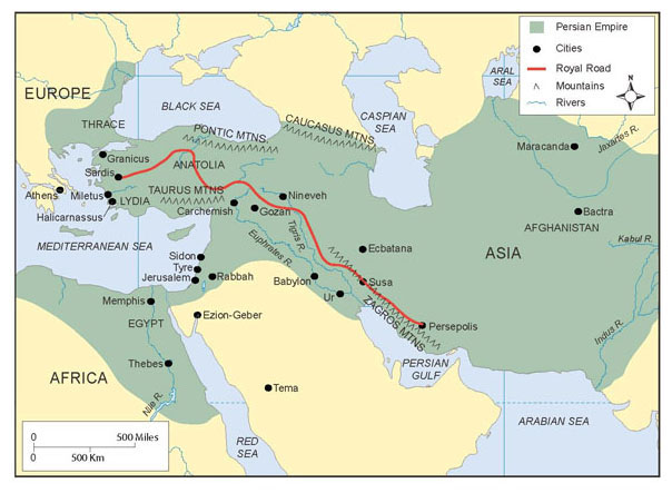 In 525 B.C.E., when the Persian King Cambyses II conquered Egypt, the Persian Empire