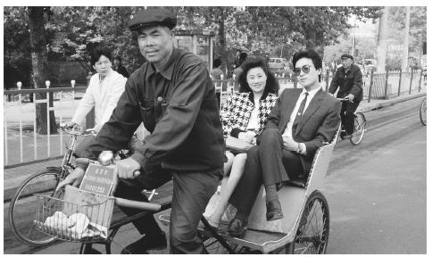 Bicycles are one of the most common modes of transportation in Chinas crowded cities.