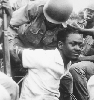 His arms roped behind him, ousted Congolese Premier Patrice Lumumba is captured by troops of strongman Colonel Mobutu Sese Seko in 1960. Lumumba was killed in early 1961