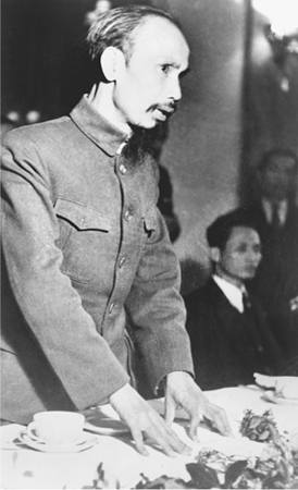 Pictured here in 1954, Vietnamese communist and nationalist Ho Chi Minh founded the Indochina Communist Party in 1930 and was president of the Democratic Republic of Vietnam (DRV, North Vietnam) from 1945 to 1969. (Library of Congress)