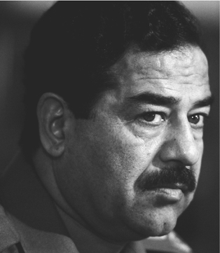 Saddam Hussein initiated the long Iraq-Iran War (1980-1988) and invaded Kuwait in 1990. He was the dictator of Iraq from 1979 until he was overthrown by the U.S.-led invasion of his country in 2003. (PavlovskySygmaCorbis)