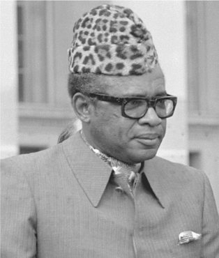 President Mobutu Sese Seko of Zaire. During the Cold War, the United States feared communist expansion into Africa by the Soviet Union and therefore supported the junta led by Mobutu in 1965. Mobutu consolidated his power, created a single-part