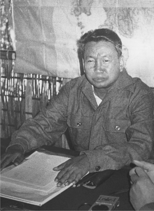 Deposed Cambodian Khmer Rouge leader Pol Pot, shown here during a clandestine meeting with Japanese journalists in his guerrilla base near the Thai-Cambodia border, 12 December 1979. (BettmannCorbis)