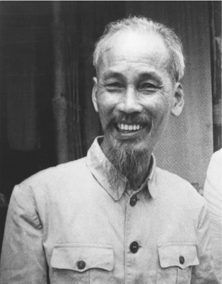 Ho Chi Minh, leader of the Viet Minh that fought against the Japanese and the French and president of the Democratic Republic of Vietnam (DRV, North Vietnam), shown here in October 1954. (BettmannCorbis)