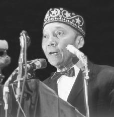 Elijah Muhammad. The longtime leader of the Nation of Islam in 1966, the year after the assassination of his former protégé Malcolm X. © CORBIS