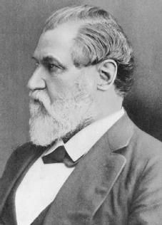 Leland Stanford. The cofounder and first president and director of the Central Pacific Railroad and later head of the Southern Pacific Railroad, as well as a governor and U.S. senator and the founder of what is now Stanford University. © CORBIS-BETTMANN