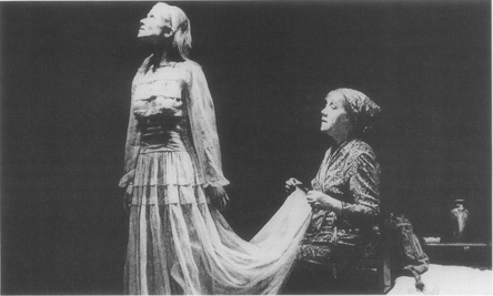 Laurette Taylor and Julie Haydon in a scene from a stage adaptation.