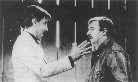 A scene from Glengarry Glen Rosss first production in London, 1983