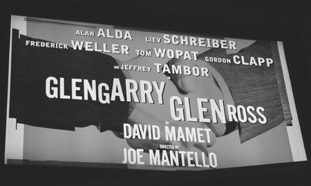 Sign for the May 2005 production of Glengarry Glen Ross at the Royale Theater  in New York City