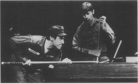 Pavlo (Al Pacino) plays billiards with his fellow soldiers in a scene from a 1977 Broadway production