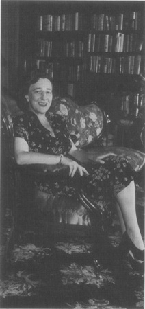Lillian Hellman pictured in her home in 1944