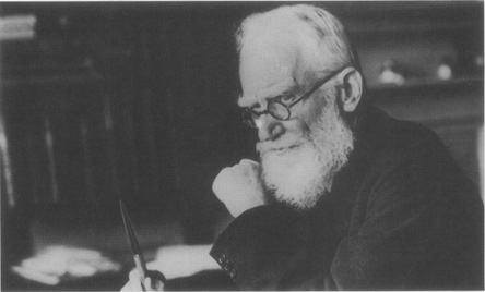 George Bernard Shaw at his desk in 1928