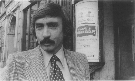 Edward Albee outside of the Colonial Theatre in Boston, where he directed a 1976 production of Whos Afraid of Virginia Woolf?