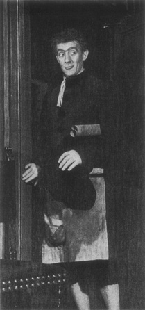 Alec Guiness as Abel Drugger in a 1957 production of The Alchemist