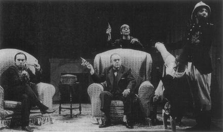 A production of The Bald Soprano with Thomas Derrah, Jeremy Geidt, Tresa Hughes, Deborah Lewin, and Rodney Scott Hudson.