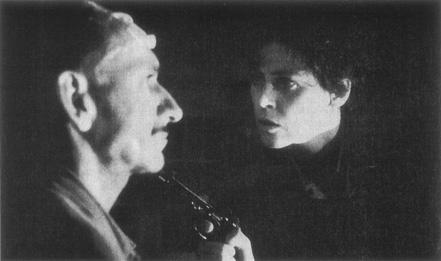Miranda and Paulina (Sigourney Weaver) in a tense moment