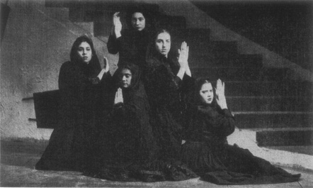 The women of Bernardas house in a production staged at Case Western Reserve University