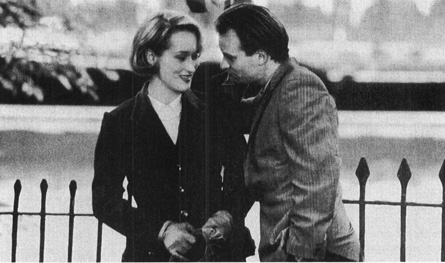 Susan (Meryl Streep) meets with Mick (Sting) in the film adaptation of Hares play
