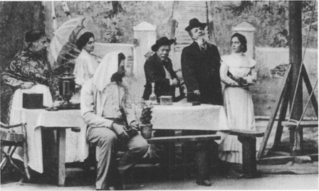 A scene from the Moscow Art Theatre production of Chekhovs play
