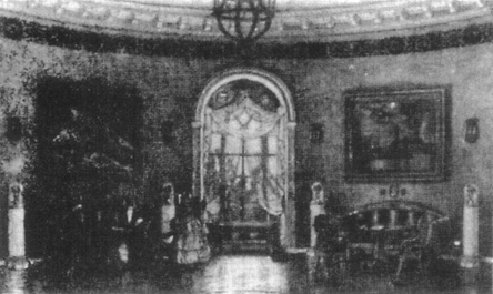 A stage setting for A Month in the Country at the Moscow Arts Theatre, where a revival of Turgenevs play was produced in 1909