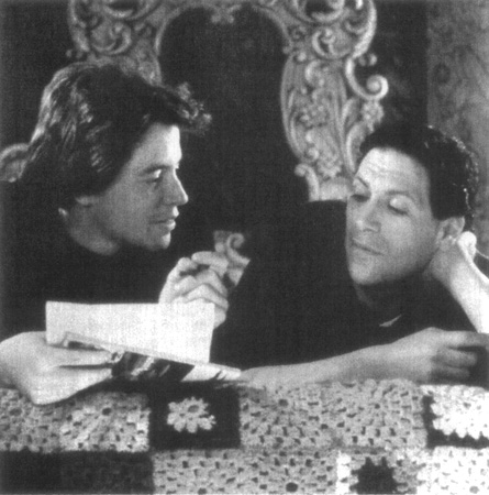A scene from the film adaptation of Torch Song Trilogy, with Fierstein as Arnold and Matthew Broderick as Alan (in the stage play, Broderick played Arnolds adopted son, David)
