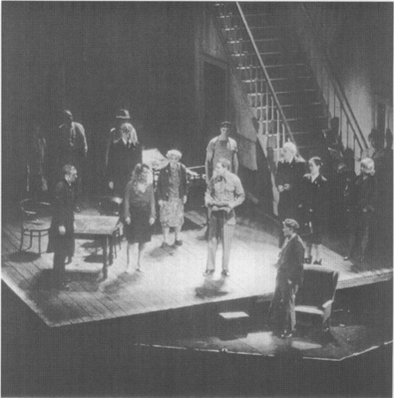 A shot of the stage setting (the brothel) for The Hostage