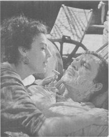 A still from director John Hustons film adaptation of Williams play: the Reverend (Richard Burton) and Maxine (Ava Gardner)