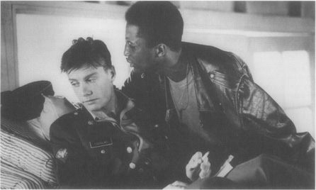 Carlyle (Michael Wright) and Richie (Mitchell Lichenstein) in a scene from director Robert Altman s interpretation of Rabe s play