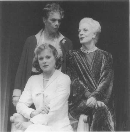 Samantha Bond, Sara Kestelman, and Maggie Smith as the three different versions of the same woman depicted in Albees play