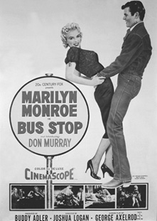 Marilyn Monroe and Don Murray in the 1956 version of Bus Stop