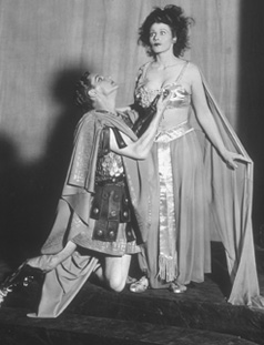 Robert Donat and Joan Maude star in a 1931 production of Salome at the Savoy Theatre, London
