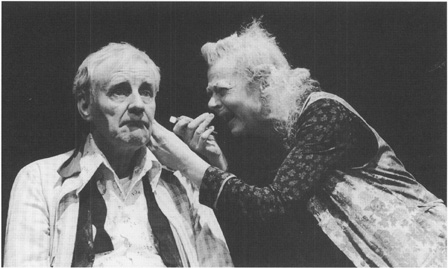 Richard Briers as the Old Man and Geraldine Miewan as the Old Woman in Ionescos play