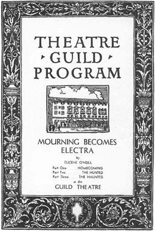 Playbill from ONeills Mourning Becomes Electra