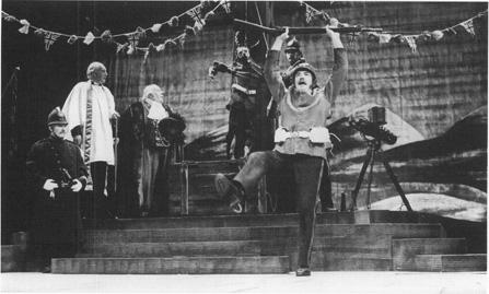 Albert Finney in the title role in Serjeant Musgraves Dance by John Arden.