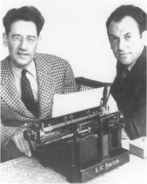 George S. Kaufman (left) and Moss Hart