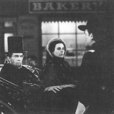 A scene from RKO Studios 1940 film adaptation of Abe Lincoln in Illinois.